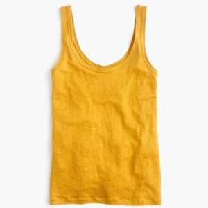 J. Crew Scoop Neck Linen Tank Top XS